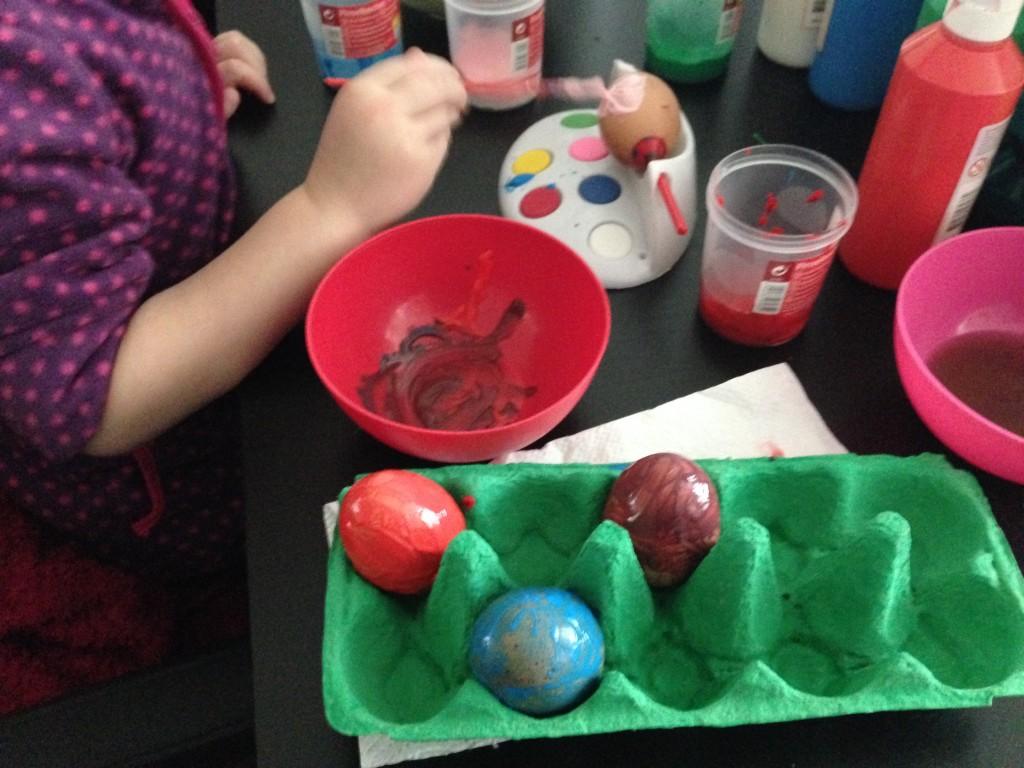 Knutselen met oude eieren