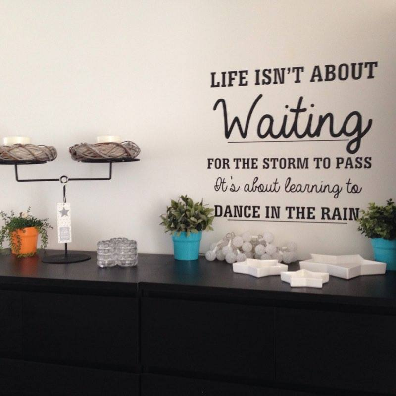 Life isn't about waiting
