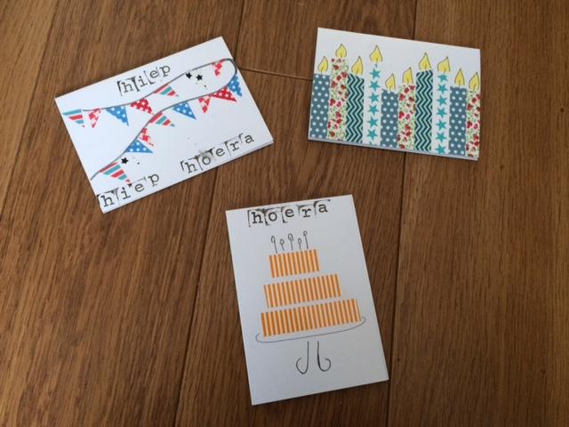 Voorkeur 5 x zelf verjaardagskaarten maken met Washi tape | ONLY BY ME &DG73
