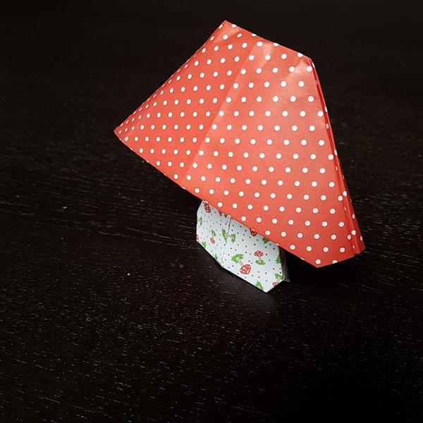 origami paddenstoel