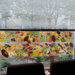 raamfolie maken met bladeren