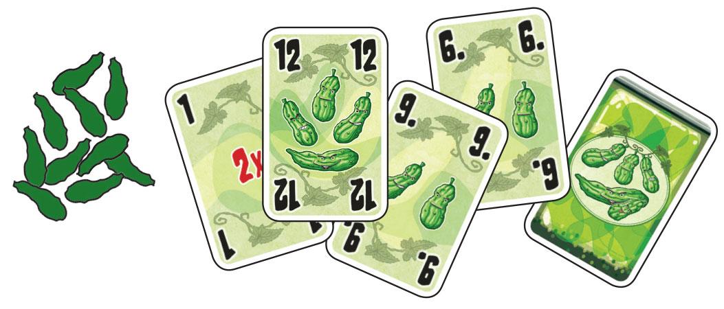 Vijf augurken