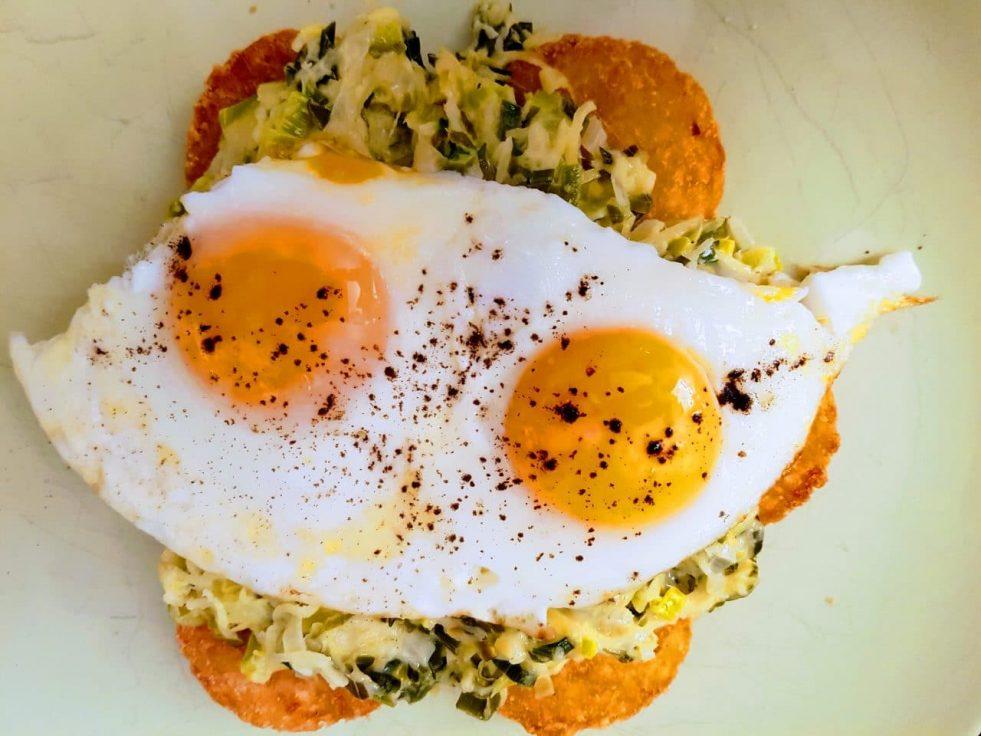 vegetarische rosti met ei