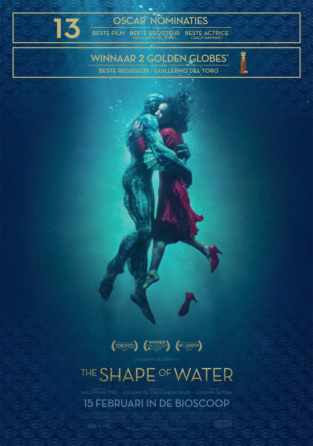 Topfilm The shape of water en andere 'must see movies' deze voorjaarsvakantie.