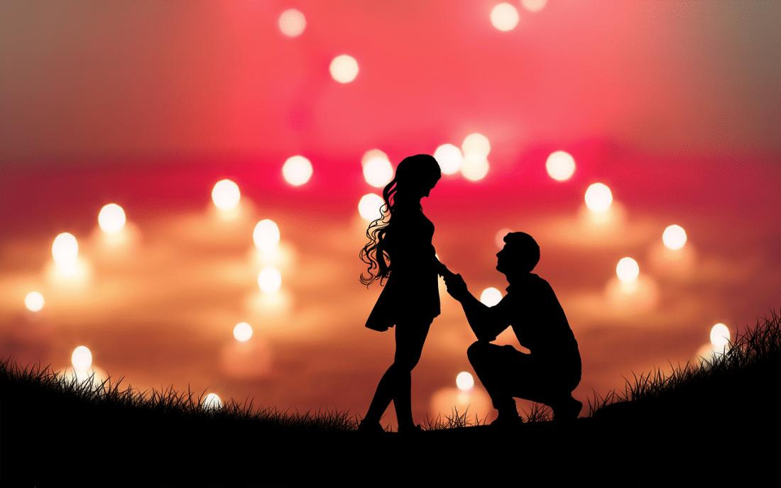 trouwen; romantisch gevoel