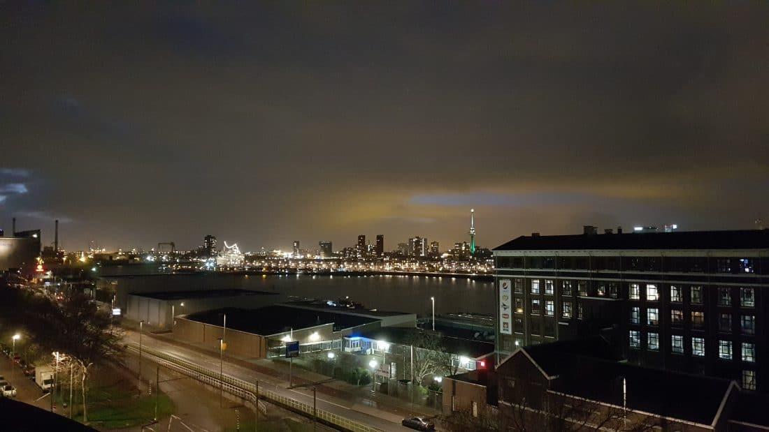 1 januari - ons uitzicht op de haven van Rotterdam