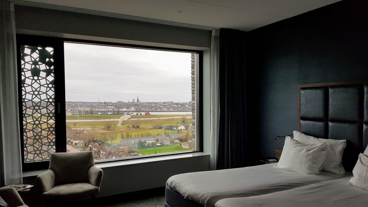 Uitzicht kamer Van der Valk Nijmegen Lent