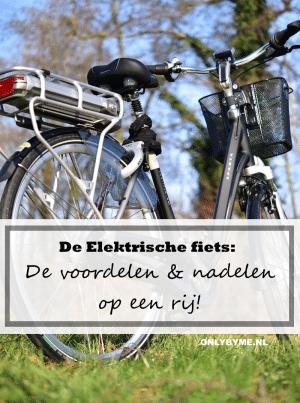 De elektrische fiets: de voordelen en nadelen op een rij. Afbeelding toont elektrische fiets. #elektrischefiets #ebike