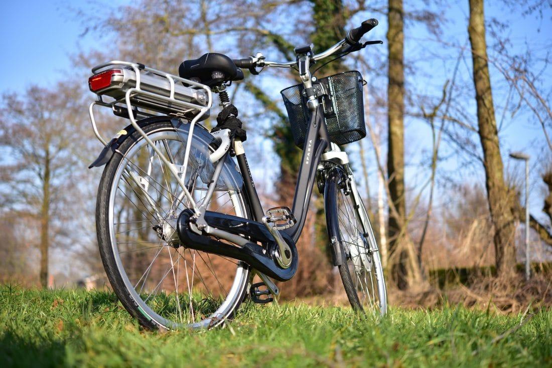 De elektrische fiets: voordelen en nadelen. Afbeelding toont een elektrische fiets in natuurlijke omgeving.